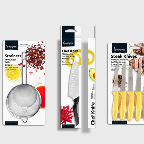 Vegetable packaging with the title 'Kitchen Accessories'