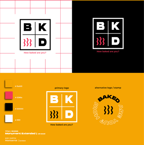 Grid brand with the title 'Bakery branding design'