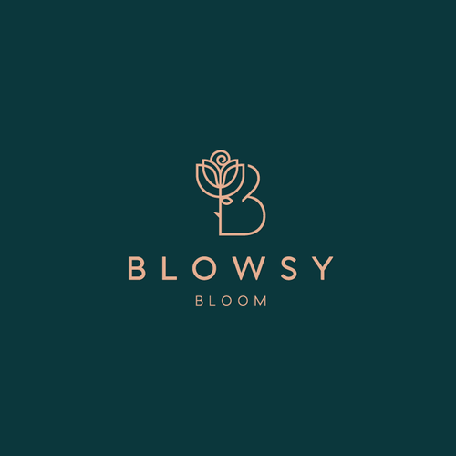 Sophisticated logo with the title 'flowers and events shop'