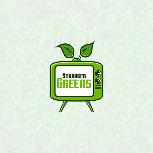 TV show design with the title 'Stranger greens'