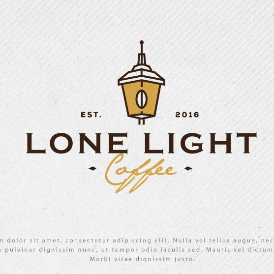 Cafeteria logo with the title 'Logo for Lone Light Coffee'