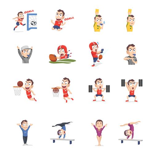 Emoji design with the title 'Sticker Sport iMessage for NanoStak '