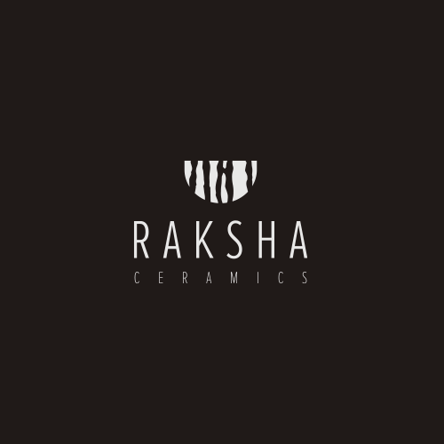 Art logo with the title 'logo design for raksha'
