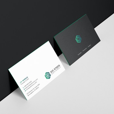 Elegant business card for small business firm