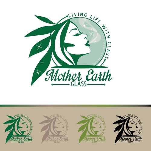 Earth design with the title 'Create the next logo for Mother Earth Glass'