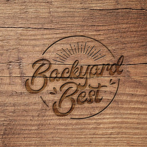 Lawn care logo with the title 'Backyard Best - logo design'