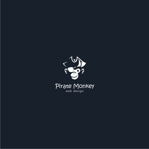 Combination logo with the title 'pirate monkey'