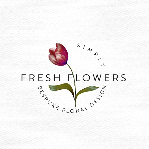 Bespoke logo with the title 'Bespoke floral logo design'