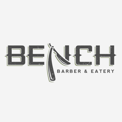 Eatery logo with the title 'Bench barber and eatery'