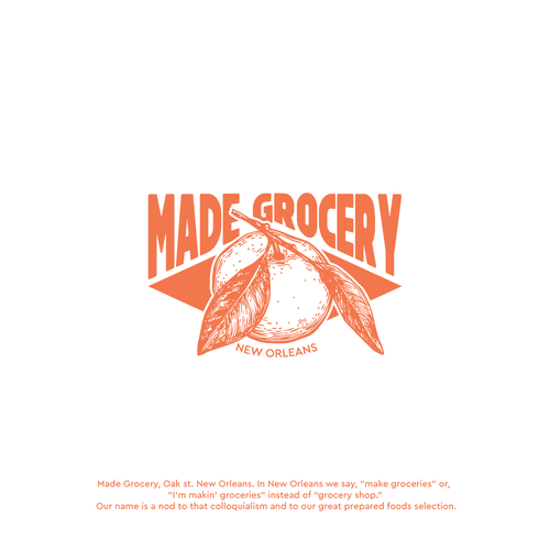Grocery logo with the title 'Logo contest entry'
