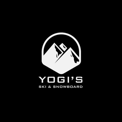 Mountain logo with the title 'Yogi's'