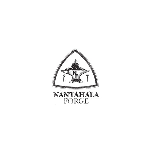 Rough logo with the title 'Nantahala Forge Logo Concept'