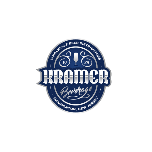 Silver logo with the title 'Kramer Beverage'
