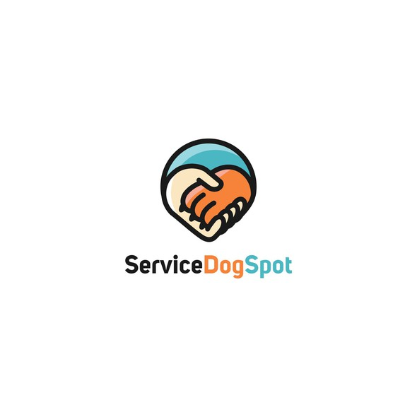 Loyalty logo with the title 'Logo for Service Dog Spot'
