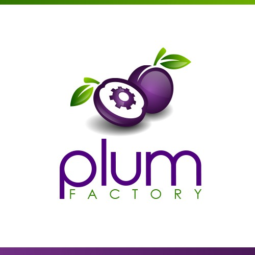 Gear logo with the title 'Plum Factory'