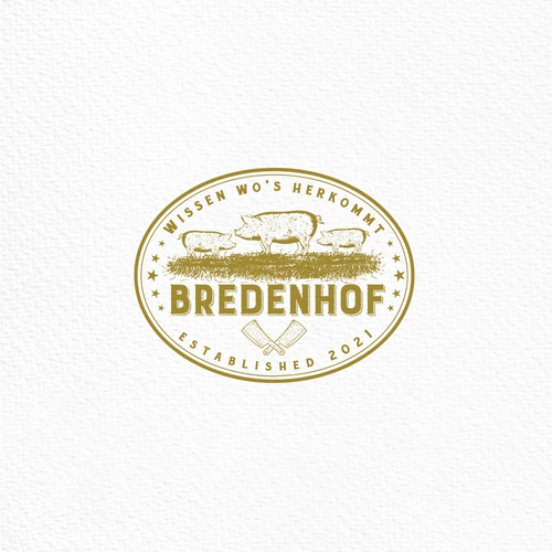 Butcher design with the title ' Logo Design for a sustainable Butchery Brand'
