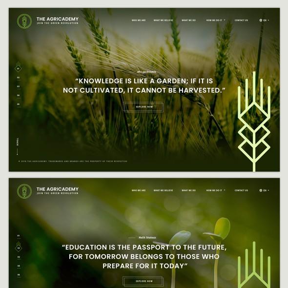Slider website with the title 'Modern Website Slider Designs'