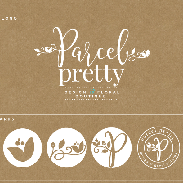 Crate design with the title 'trendy and pretty logo for a floral shipper box'