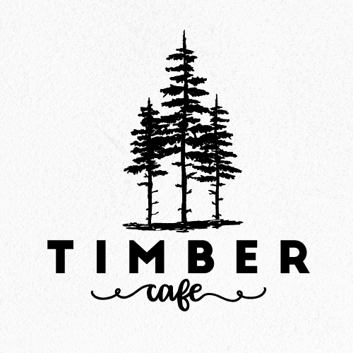 Cafe bar logo with the title 'Timber'