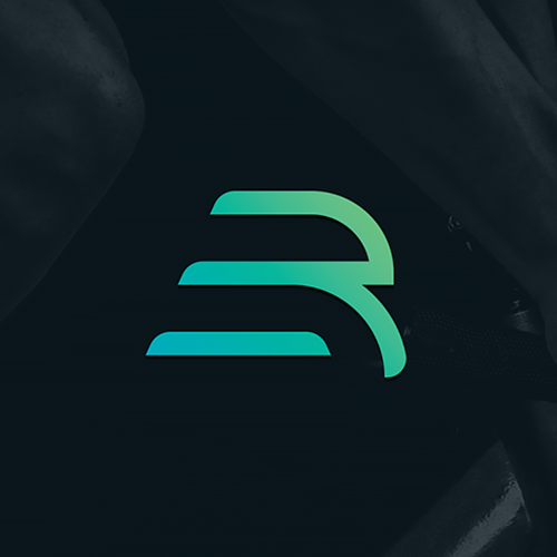 Fluid logo with the title 'Dynamic logo for a sports brand'