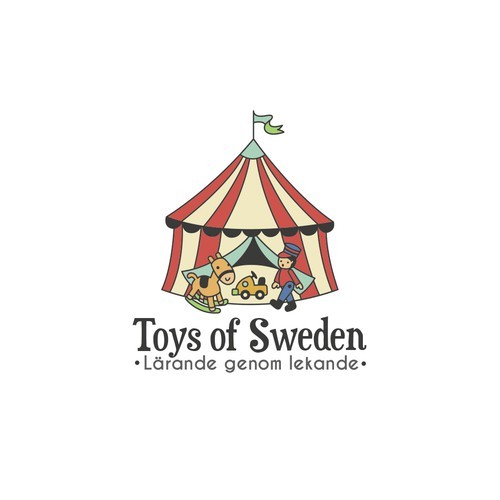 Kindergarten logo with the title 'Toys of Sweden'