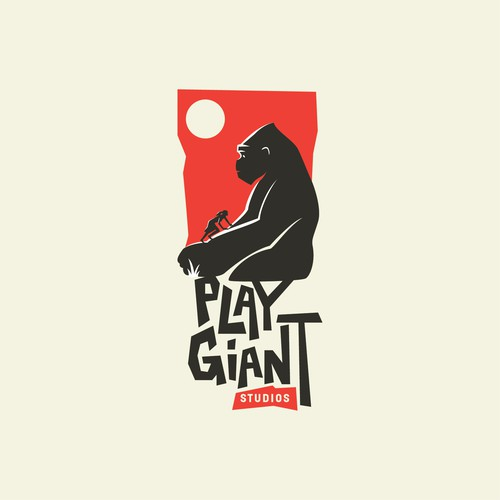 Gorilla logo with the title 'Play Giant Logo'
