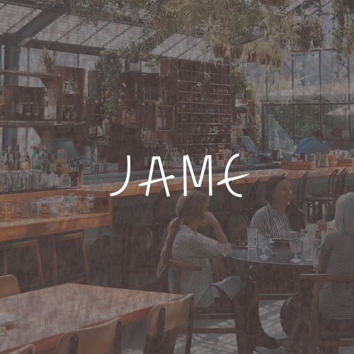 Logo with the title 'JAME'