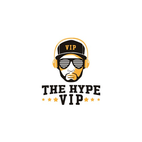 VIP logo with the title 'hip hop and urban community logo'