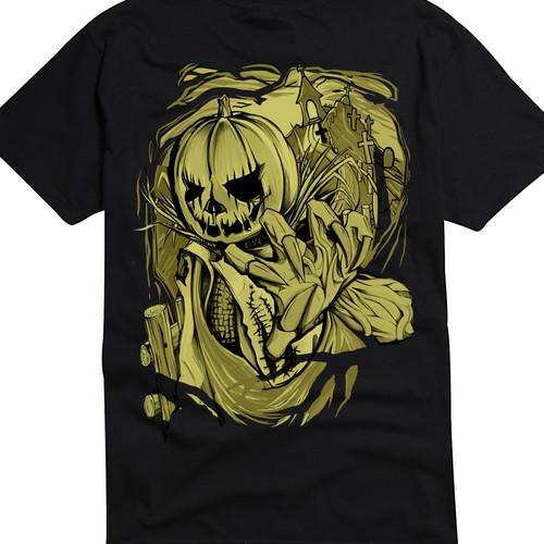 Halloween design with the title 'Halloween T-shirt design'