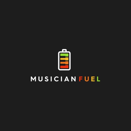 Piano design with the title 'MUSICIAN FUEL'