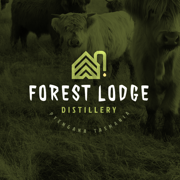 Appealing design with the title 'New Australian Distillery'