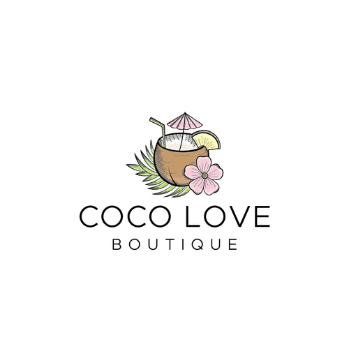 Tropical logo with the title 'Logo for fashion boutique. '