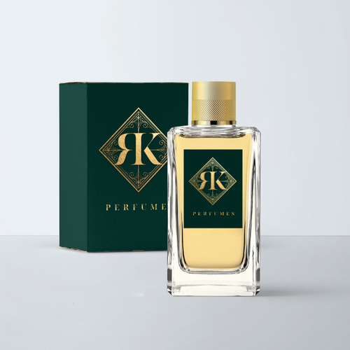 Oriental design with the title 'Ornamental logo for a perfume'