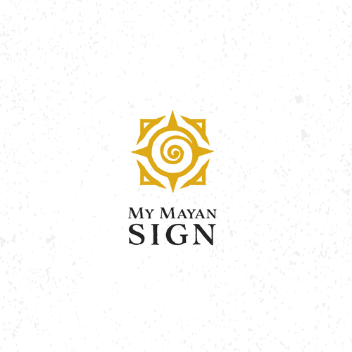 Compass logo with the title 'Mayan Ancient Sign'