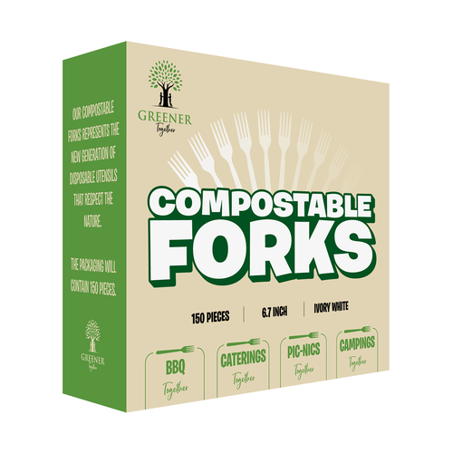 Barbeque packaging with the title 'Forks Box'