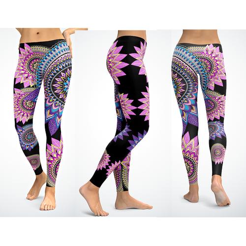 Leggings design with the title 'Yoga Legging Design'
