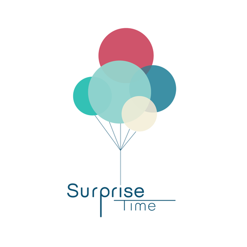 Surprise logo with the title 'Fun logo for kids' surprise box'