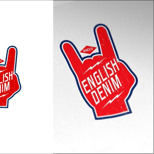 Apparel brand with the title 'Rocker style Logo for English Denim'