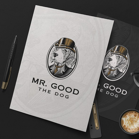 Mr. logo with the title 'Mr. Good the Dog'