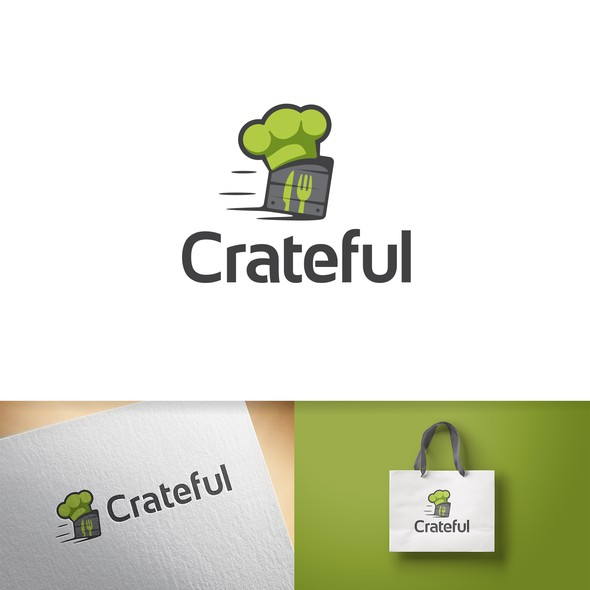 Crate logo with the title 'Engaging logo concept made for a catering service'