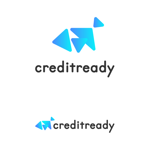 Credit logo with the title 'Abstract techy logo design'