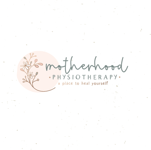 Wellness center logo with the title 'Motherhood physiotherapy '
