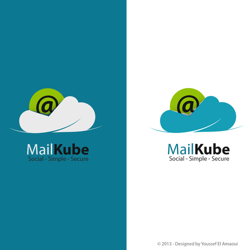 Cloud computing design with the title 'Create the next logo for MailKube'