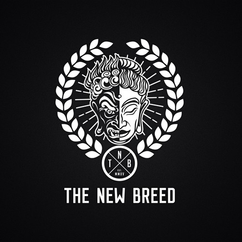 Heraldic design with the title 'Concept illustration for The New Brand'