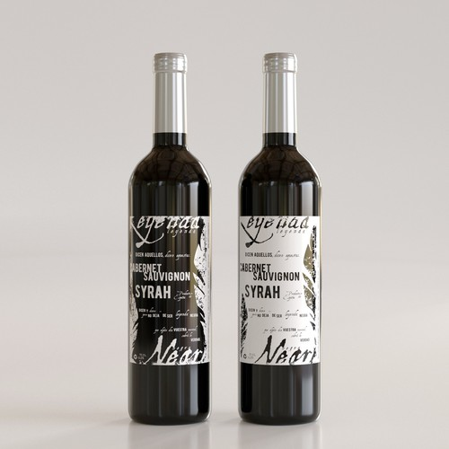 Mockup label with the title 'Spanish Wine label'