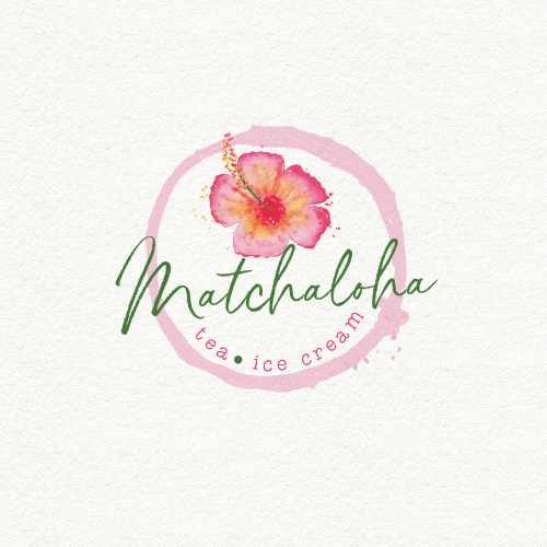 Healthy logo with the title 'Matcha Green tea inspired food'