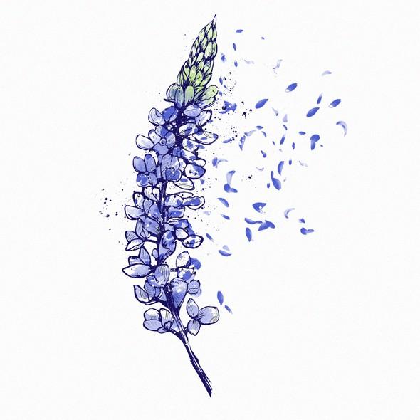 Petal design with the title 'Bluebonnet Dreamming'