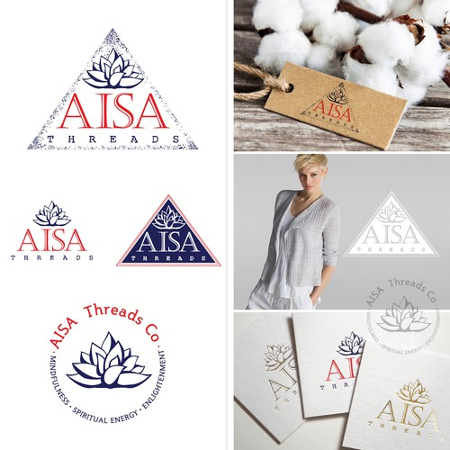 Spiritual logo with the title 'Clothes Brand Aisa Threads'