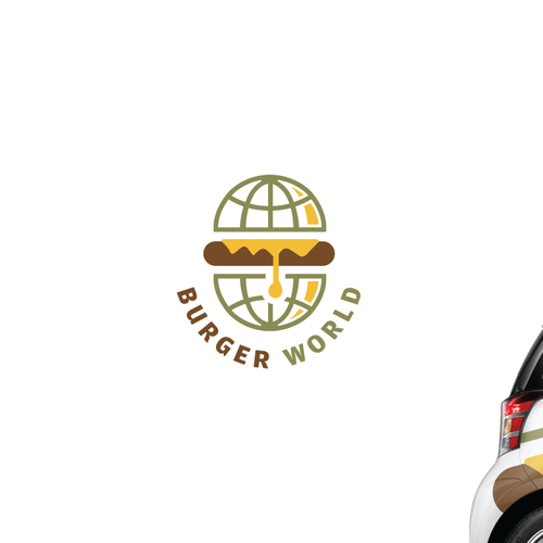 World design with the title 'Logo Design for Burger World.'
