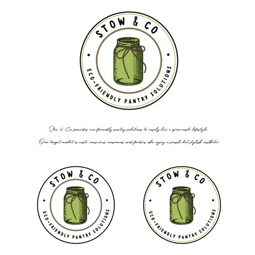 Jar logo with the title 'Logo design for food storage brand '